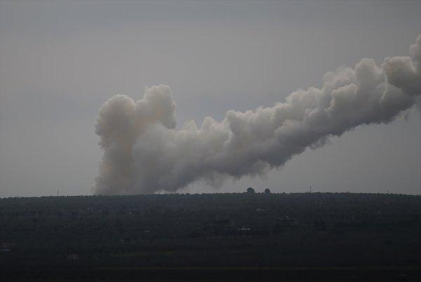 Afrin'deki terör hedefleri vuruluyor