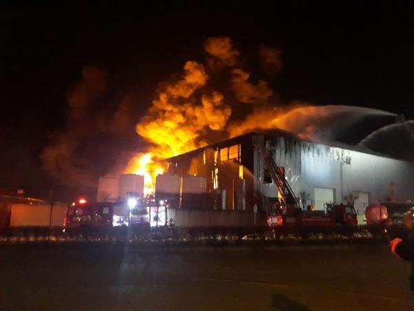 Kocaeli'de çıkan yangın 5 saatte kontrol altına alındı