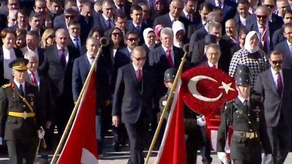 Başkan Erdoğan Anıtkabir'de