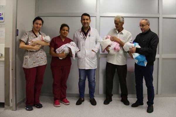 Suriyeli dördüzler taburcu edildi
