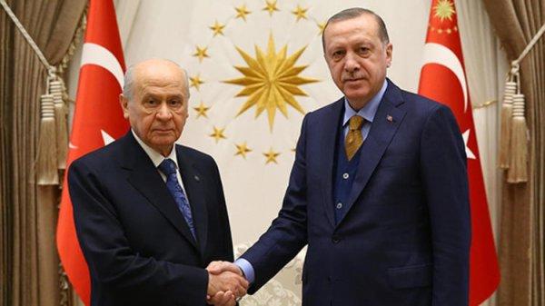 Başkan Erdoğan ile Bahçeli arasında ittifak görüşmesi