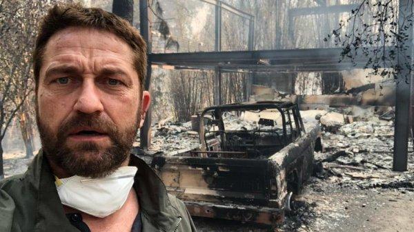 Evi yanan Hollywood aktörü Butler'a Filistin hatırlatıldı