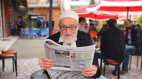 Ahmet Ali Dede'nin gazete okuma sevdası
