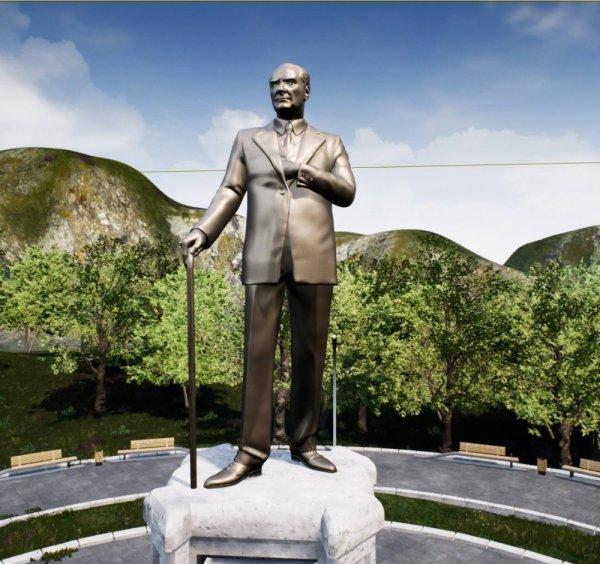 Balıkesir Çamlık'taki Atatürk Anıtı yenileniyor