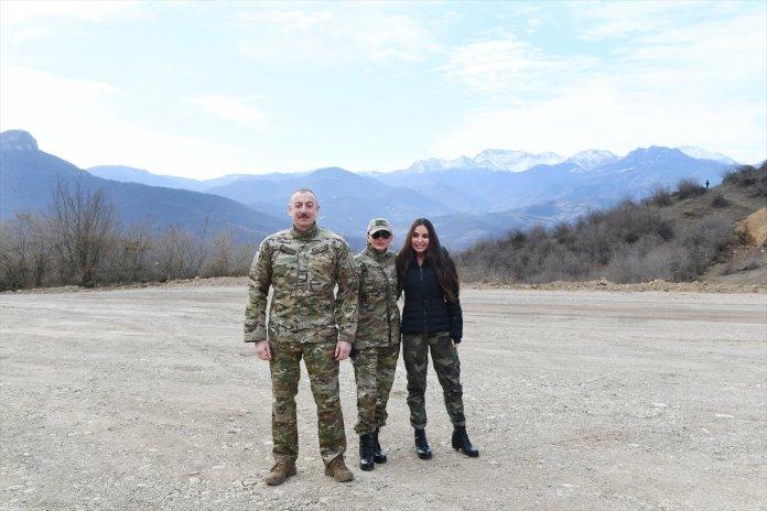 Azerbaycan Cumhurbaşkanı İlham Aliyev, Şuşa yı ziyaret etti #1