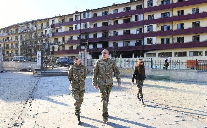Azerbaycan Cumhurbaşkanı İlham Aliyev, Şuşa yı ziyaret etti #11