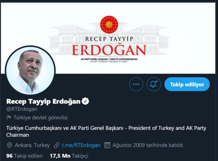 Twitter, Cumhurbaşkanı Erdoğan ve diğer devlet yöneticilerinin hesaplarını etiketledi #1