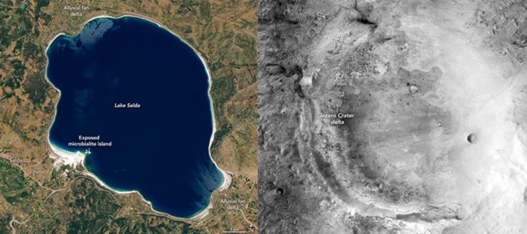Mars a inmeye saatler kala NASA dan yeni bir Salda Gölü paylaşımı geldi #4