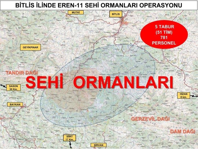 Bitlis ve Siirt te Eren-11 Sehi Ormanları Operasyonu başlatıldı #5