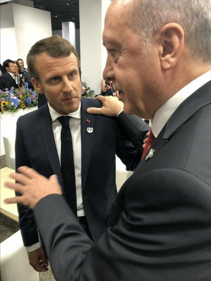 Cumhurbaşkanı Erdoğan, Macron la görüştü #7