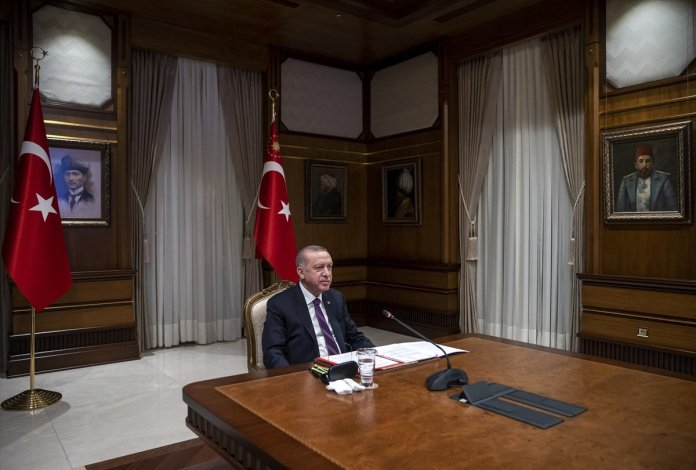Cumhurbaşkanı Erdoğan, Macron la görüştü #5