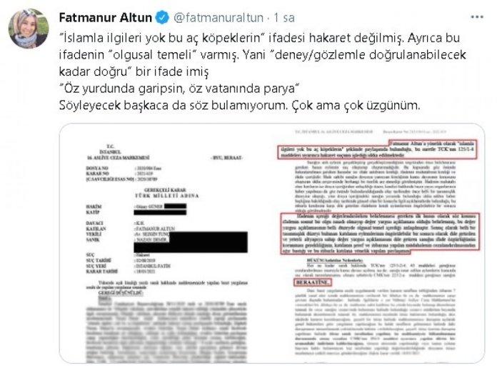Fatmanur Altun'a hakaret davasında hakimden şaşkına çeviren karar #1