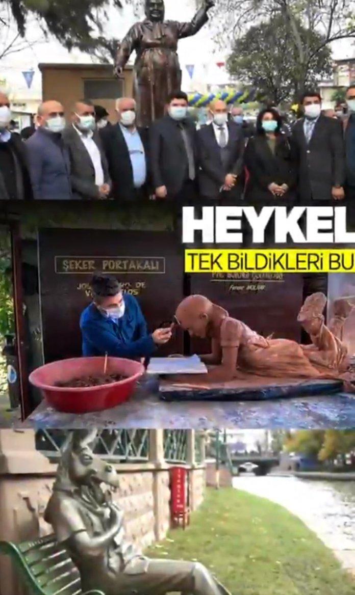 AK Parti nin 1 Nisan şakasında heykel var #1