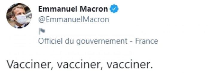 Emmanuel Macron: Aşı, aşı ,aşı #1