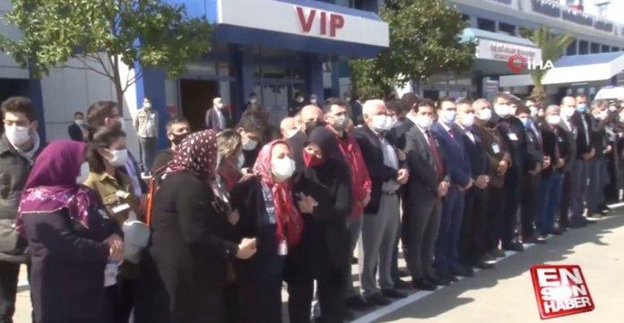 Şehit pilot Burak Gençcelep'in cenazesi Trabzon a getirildi #1
