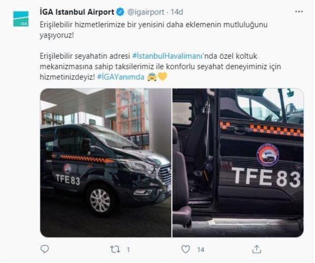 İstanbul Havalimanı'nda engelli yolculara özel taksi uygulaması #3