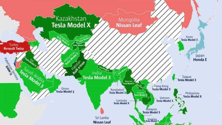 Ülkelere göre internette en çok aratılan elektrikli otomobiller #3