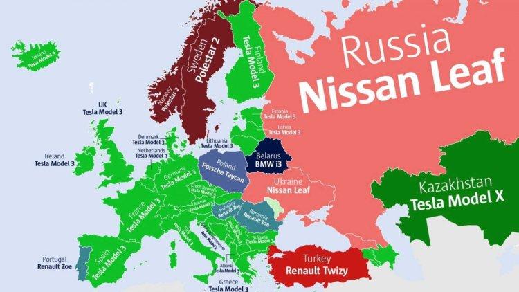 Ülkelere göre internette en çok aratılan elektrikli otomobiller #2