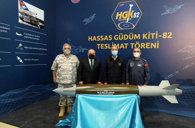 Delivery ceremony for Precision Guidance Kit-82 #1