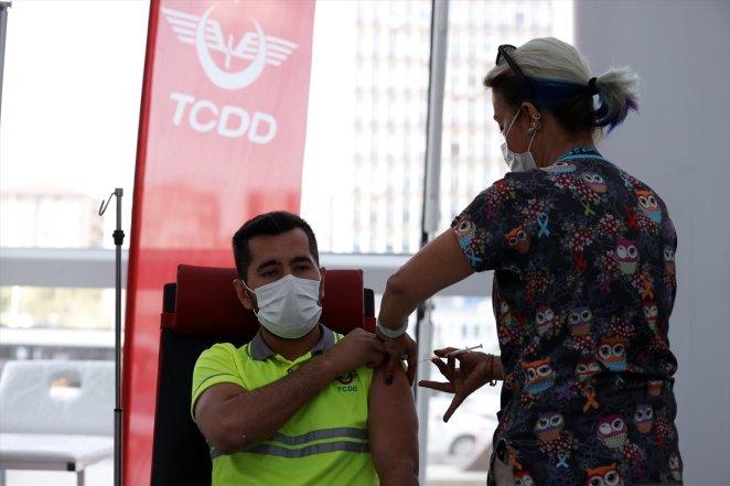 Coronavirus vaccination started at Ankara High Speed Train Station #6