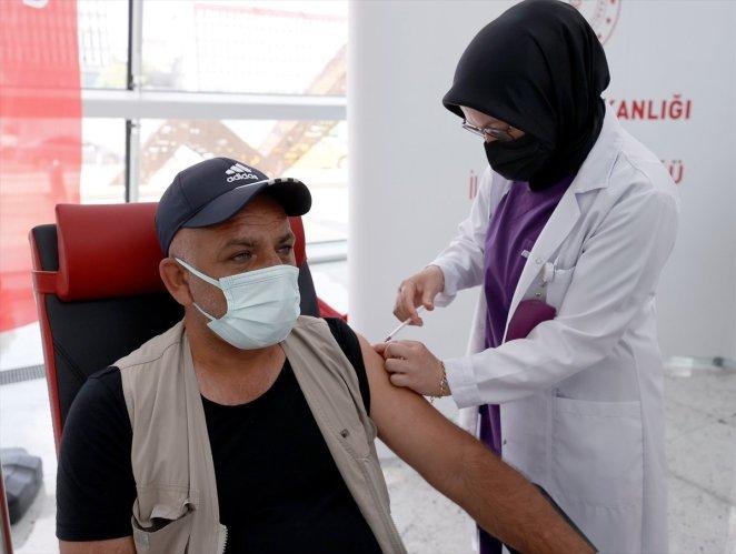 Coronavirus vaccination started at Ankara High Speed Train Station #9