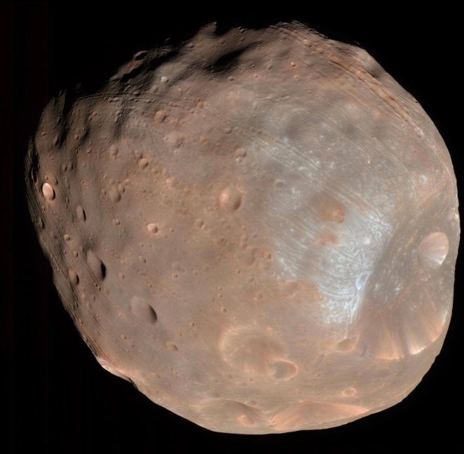 NASA shared Mars' natural satellite Phobos #1