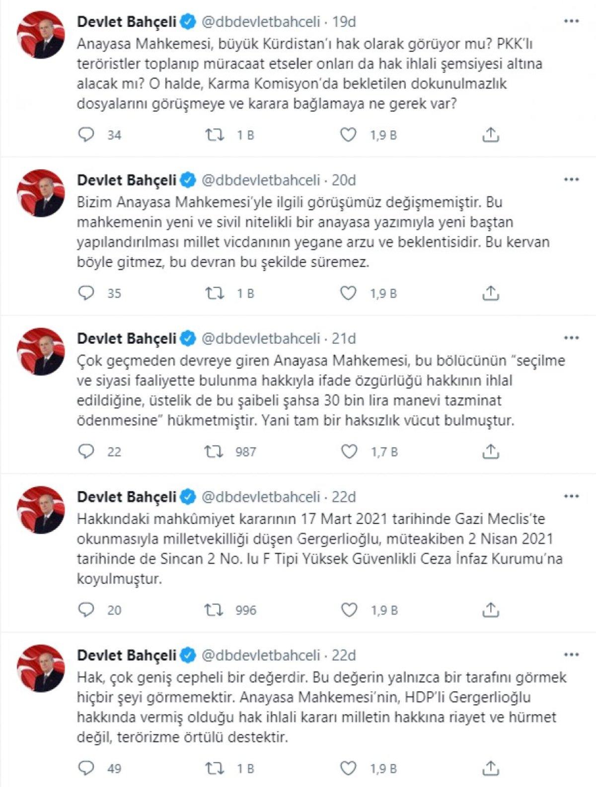Devlet Bahçeli: AYM nin Gergerlioğlu kararı, terörizme destektir #3
