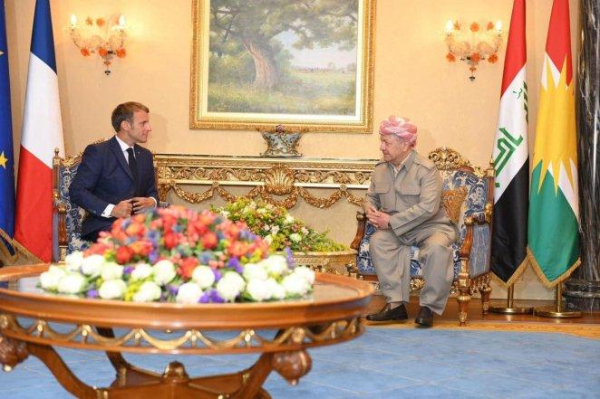 Emmauel Macron met with KRG President Barzani #2
