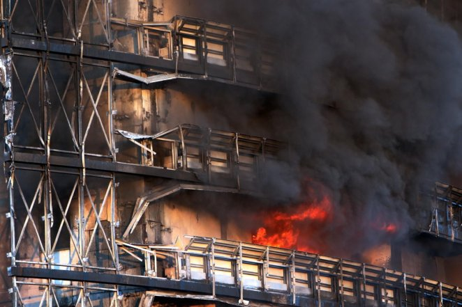 Fire in 15-storey building in Italy #5