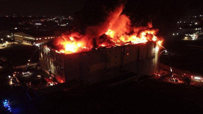Arnavutköy de fabrikada yangın çıktı #5