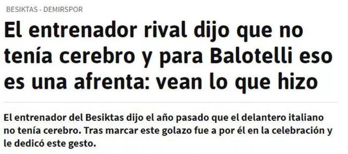 Balotelli nin yaptığı hareket dünya basınında manşet oldu #10