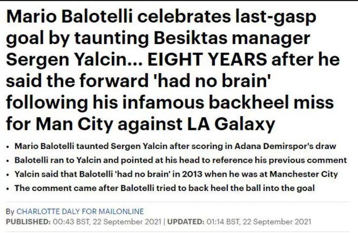 Balotelli nin yaptığı hareket dünya basınında manşet oldu #8