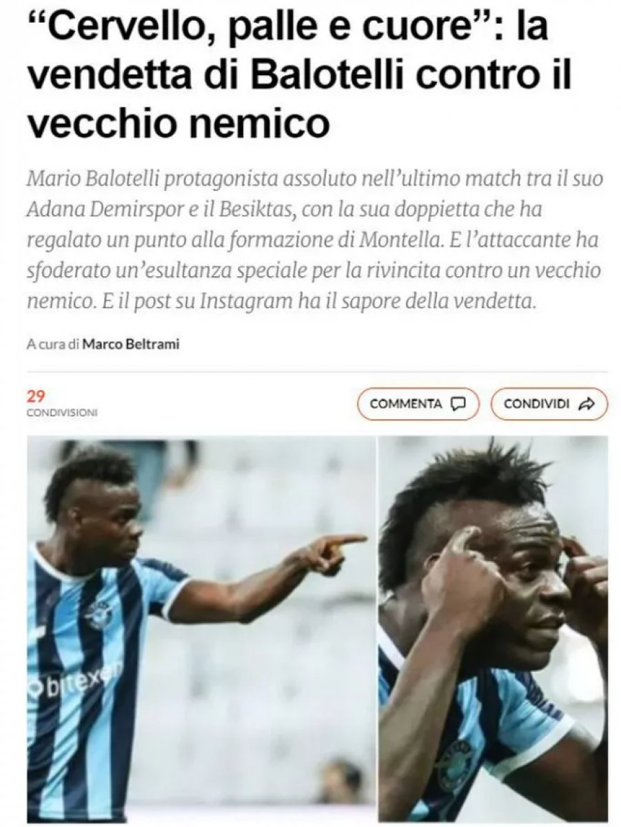 Balotelli nin yaptığı hareket dünya basınında manşet oldu #3