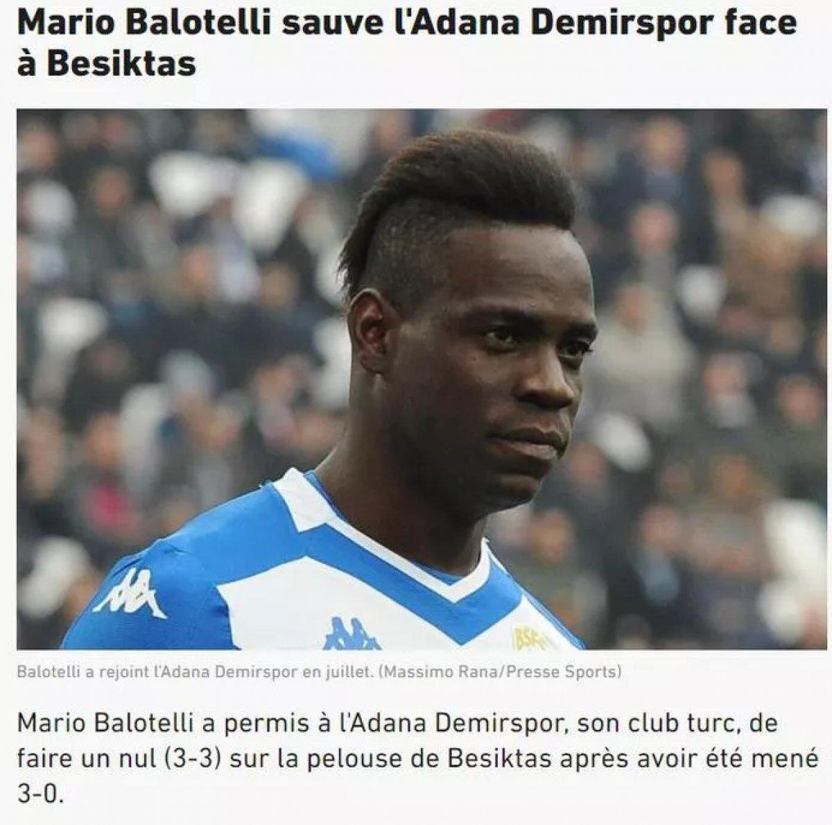 Balotelli nin yaptığı hareket dünya basınında manşet oldu #7