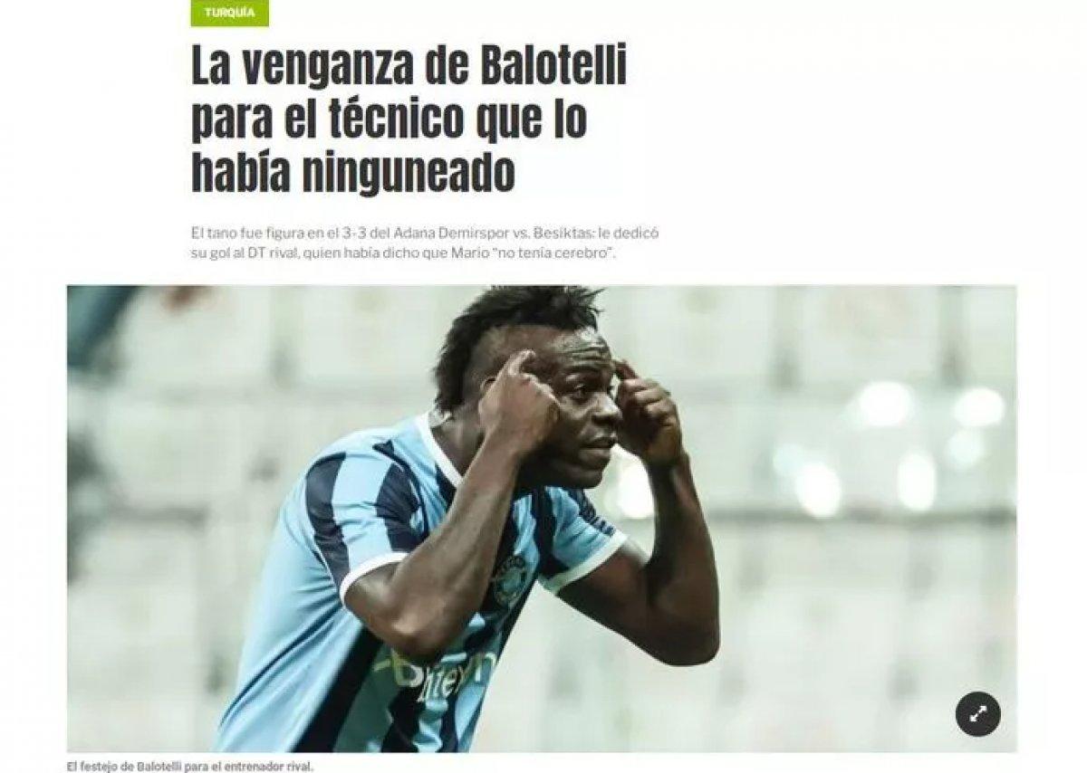 Balotelli nin yaptığı hareket dünya basınında manşet oldu #6