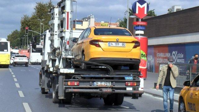 İstanbul da taksi denetimi: 4 araç trafikten men edildi #4