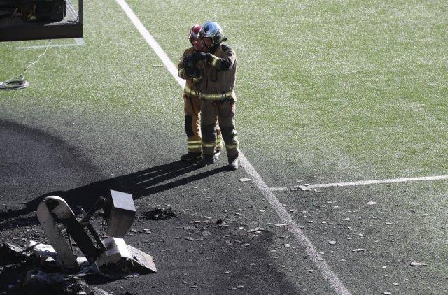 Andorra-İngiltere maçı öncesi VAR monitörü patladı #4