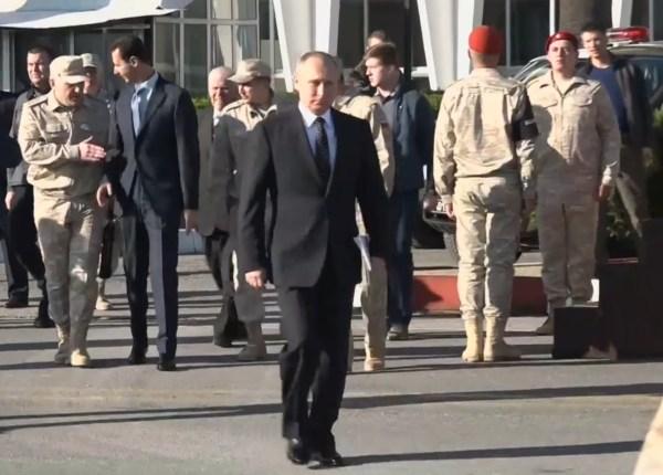 Assad wasn't allowed to walk with Putin