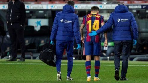 Philippe Coutinho Barcelona injury
