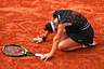 Tennis player during a match