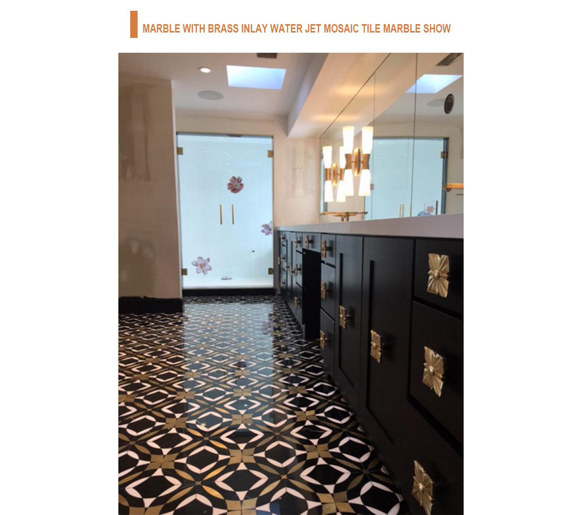 luxury style flooring design brass