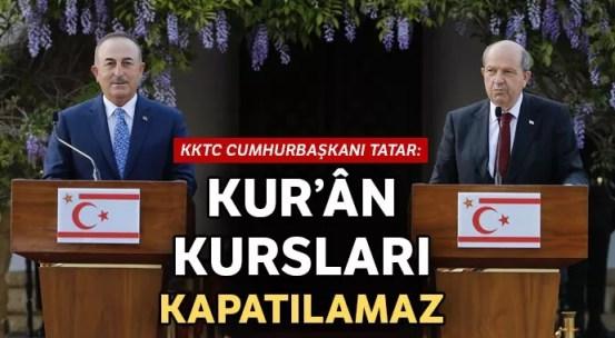 Πρόεδρος της ΤΔΒΚ Τατάρ: Τα μαθήματα Κορανίου δεν μπορούν να κλείσουν