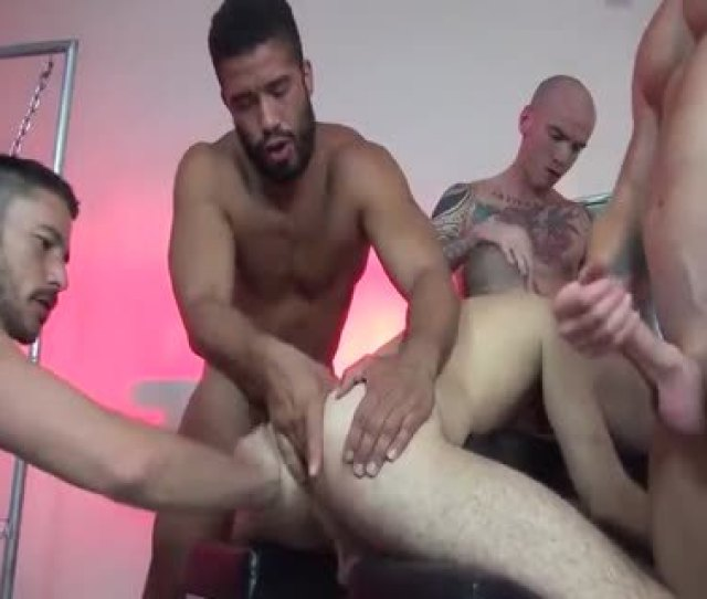 Unprotected Gangbang With Multiple Creampies