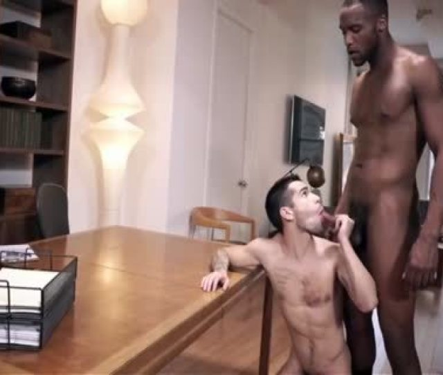Fine Interracial Nude Action At Office