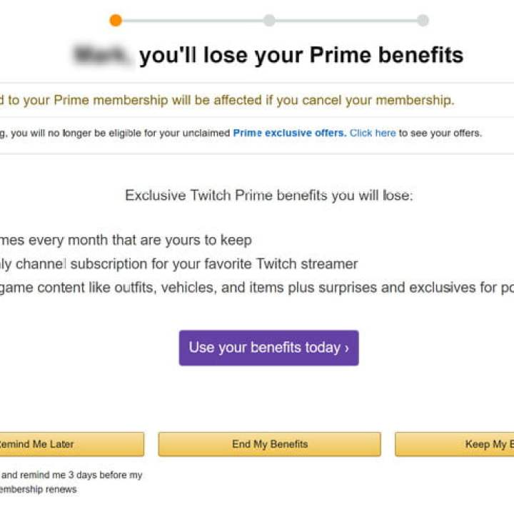 come cancellare la prima pagina di Amazon