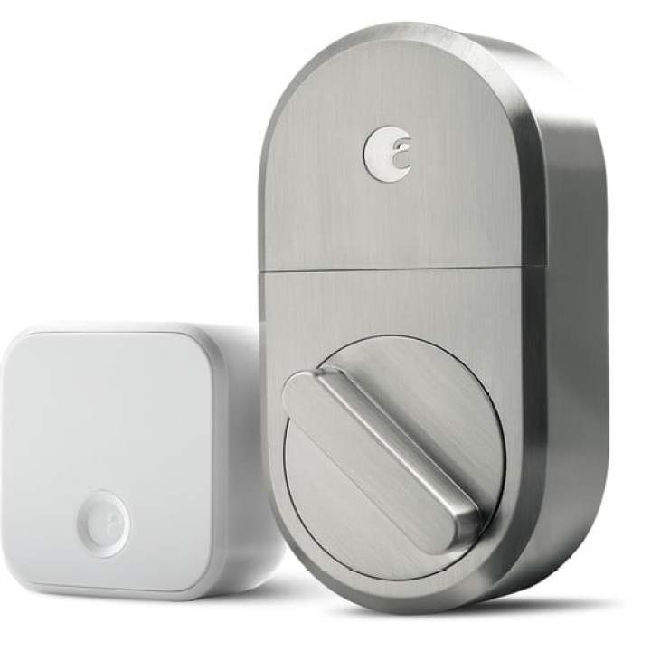 agosto smart lock satinato finitura nickel augustsmartlock connect