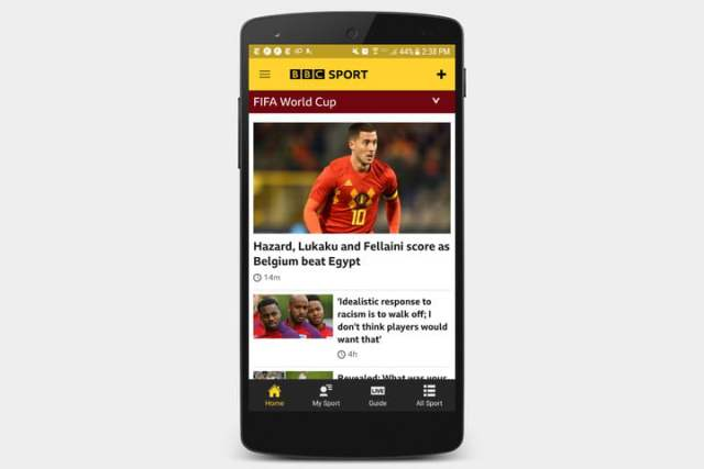 best apps for 2018 world cup bbc sport