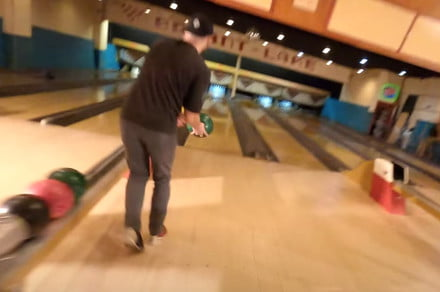 Makers of that bowling alley drone video reveal hardest move