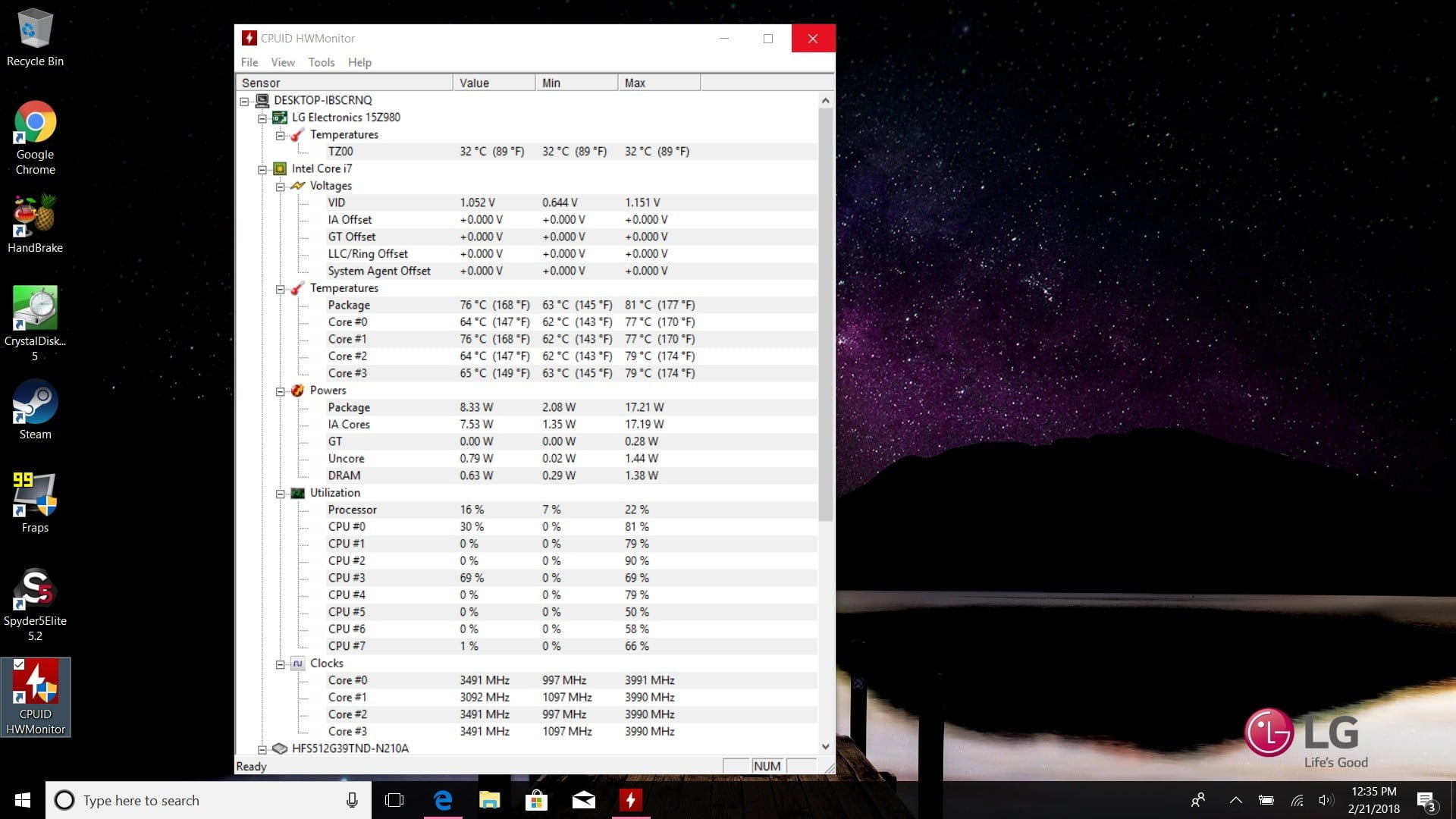 how to check your cpu temperature hwmonitor