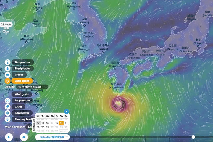 Ventusky is a beautiful weather map quite unlike any other   Digital     ventusky weather map inmeteo japan header
